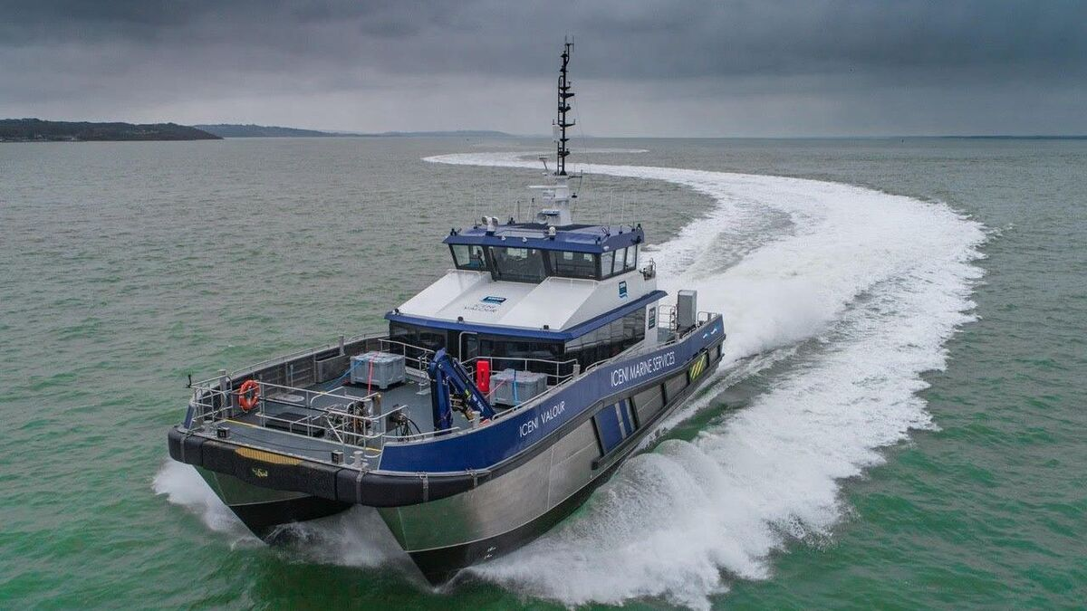 Diverse Marine is a well-known designer of crew transfer vessels used in the offshore wind market in Europe (source: Diverse Marine)