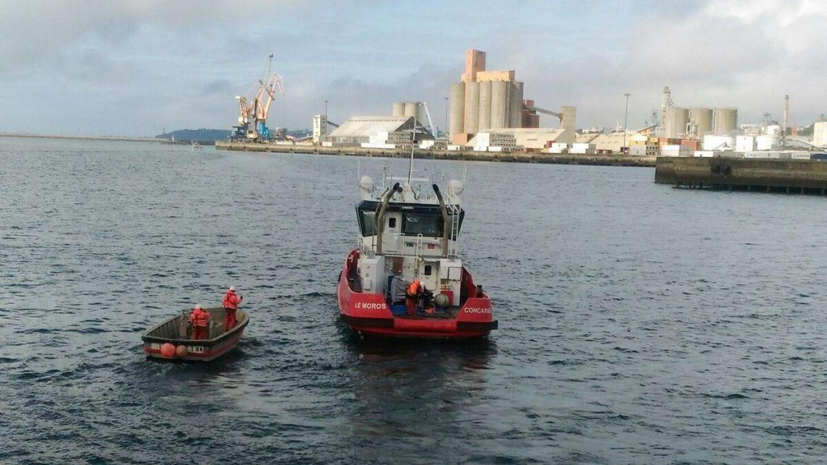 Piriou-built Le Moros was unloaded in Brest port, France on 9 September (source: Piriou)