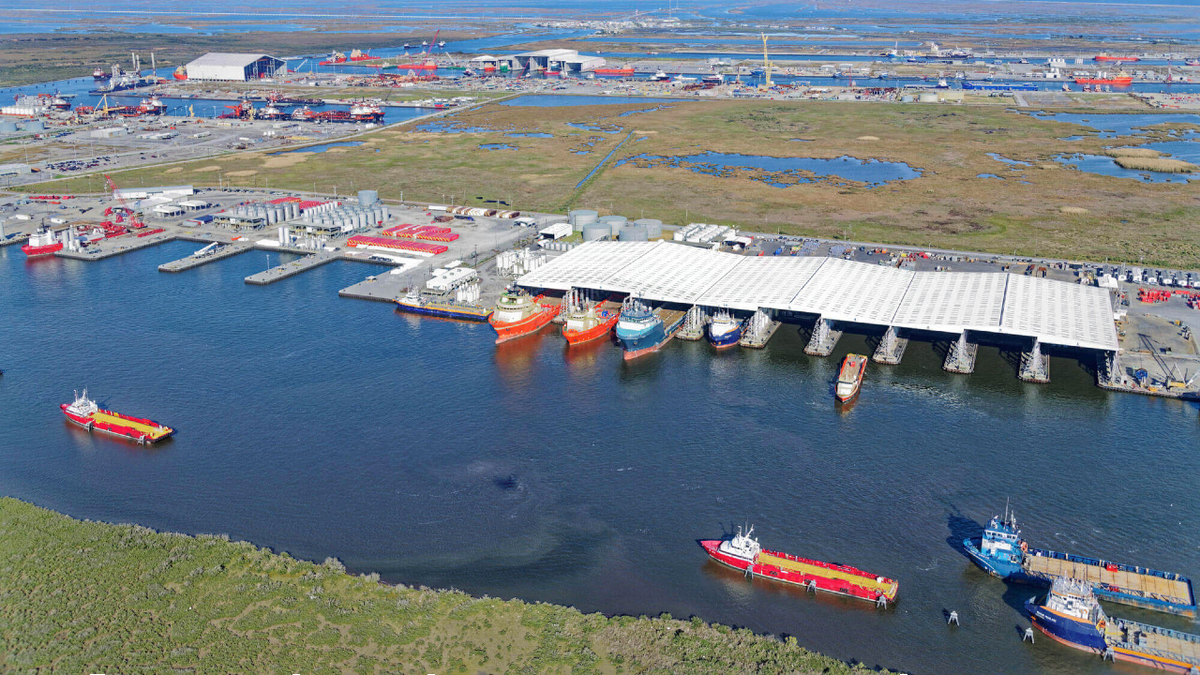 File photo of Port Fourchon, the hub for OSVs serving deepwater oil and gas drilling operations in the US Gulf of Mexico (source: Entergy)