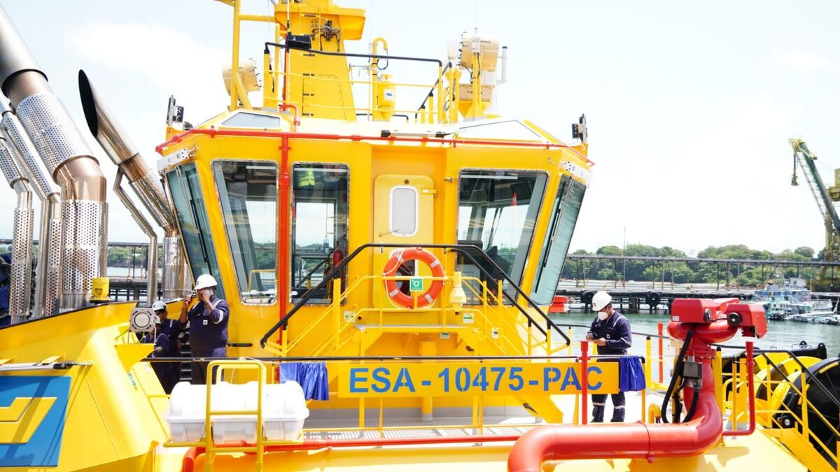 SAAM Towage flags an escort tug in El Salvador ready to support a new LNG terminal (source: SAAM)