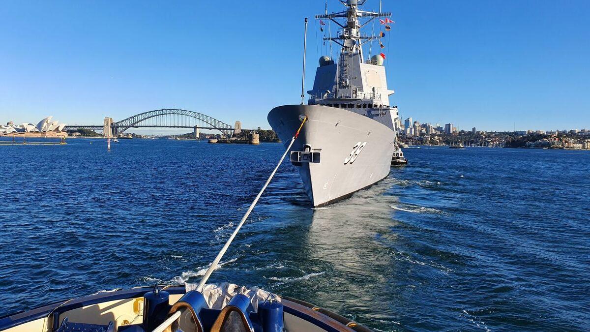 Svitzer Australia will provide towage to Australia Royal Navy (source: Svitzer)
