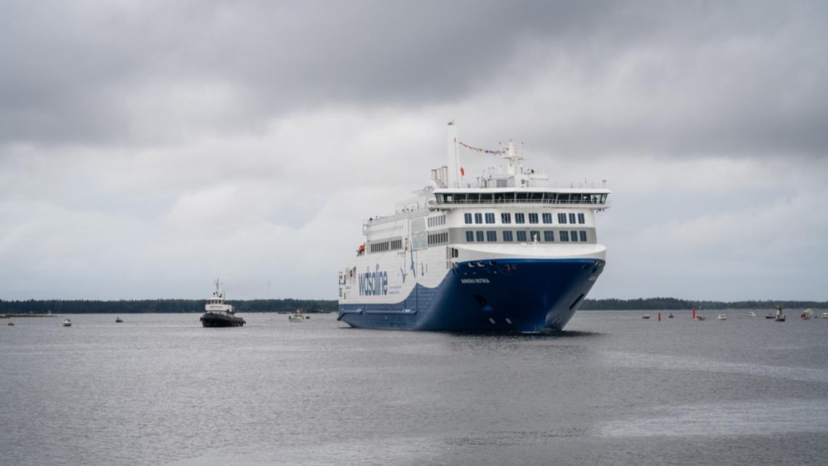 Innovative Wasaline ferry christened in Finland