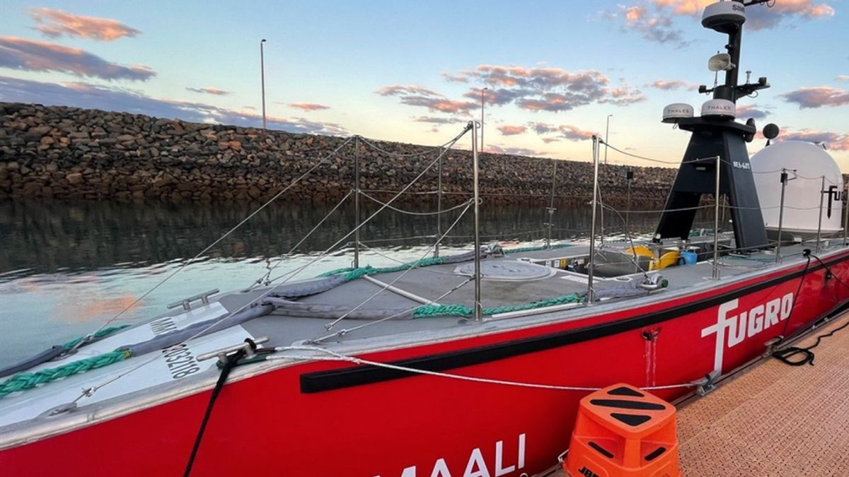 The USV Fugro Maali conducted pipeline inspections under a joint project between Woodside and Fugro (source: Woodside)