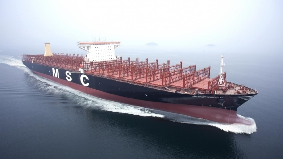 MSC Ingy - one of Ocean Yield's fleet on long-term charter to MSC (source: Ocean Yield)