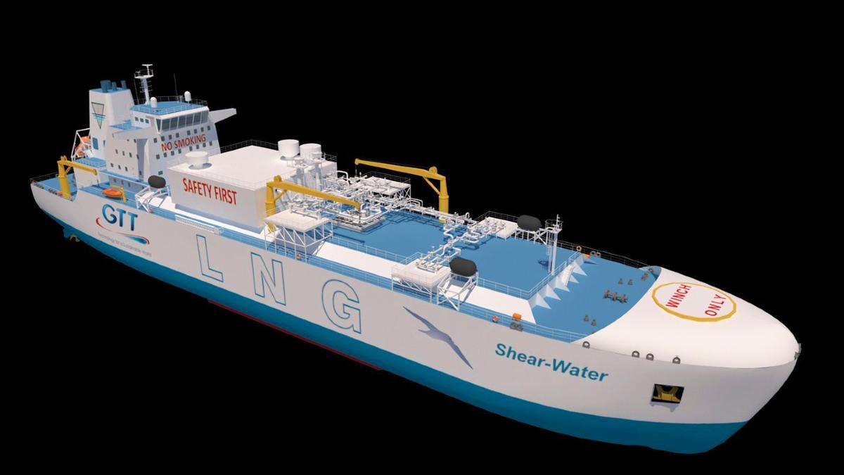 GTT ballast-free LNG bunker vessel concept Shear-Water (source: GTT)