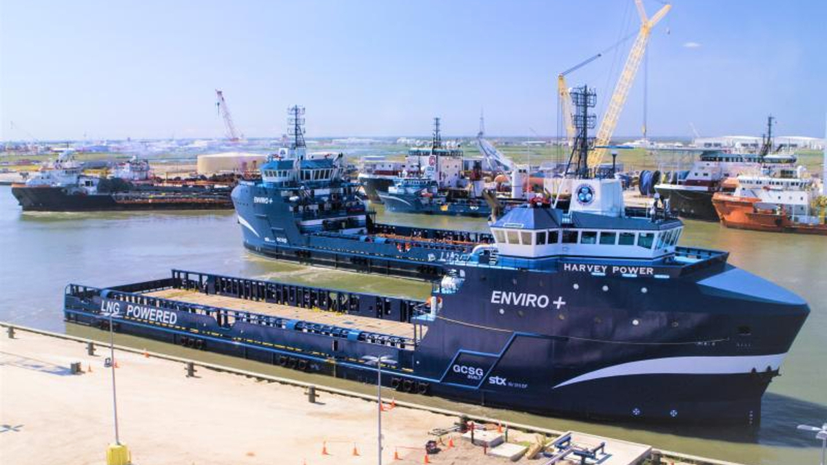 Harvey Gulf takes delivery of second tri-fuelled PSV