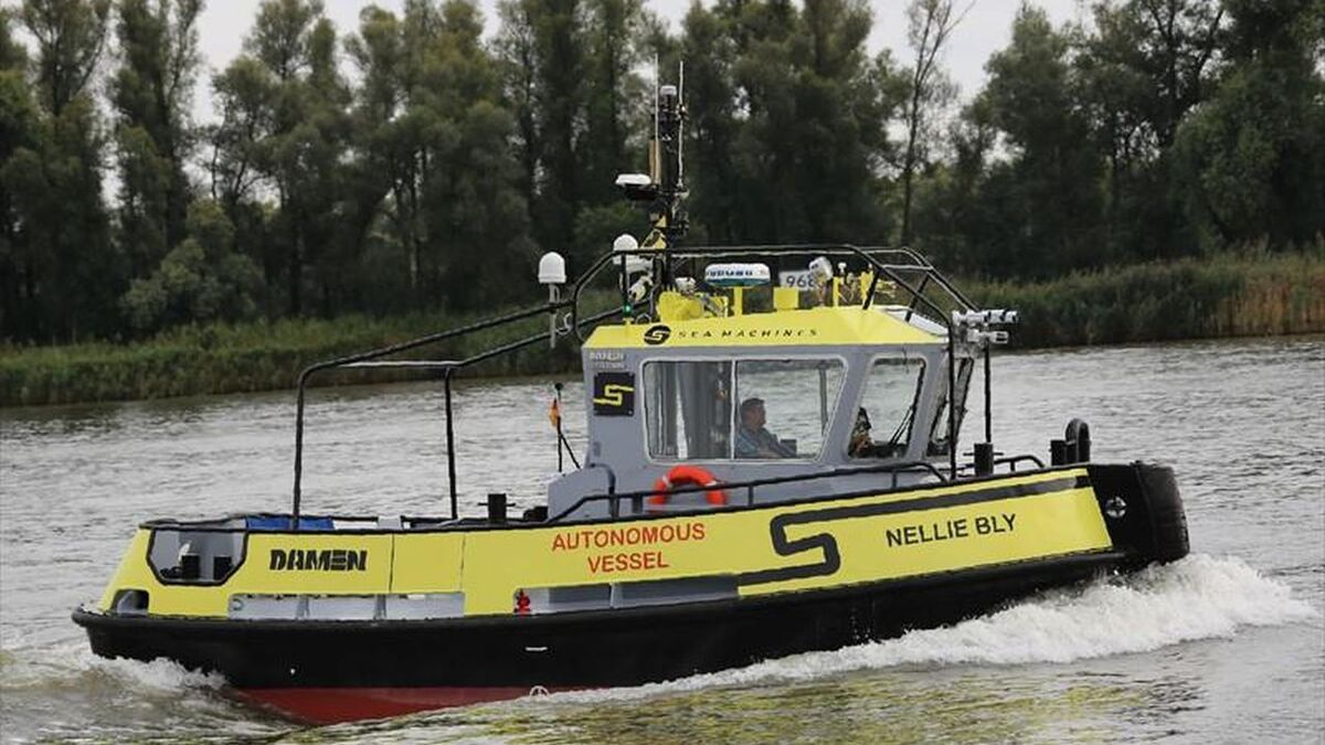 Nellie Bly tug will be commanded by Sea Machines autonomous technology (source: Sea Machines)
