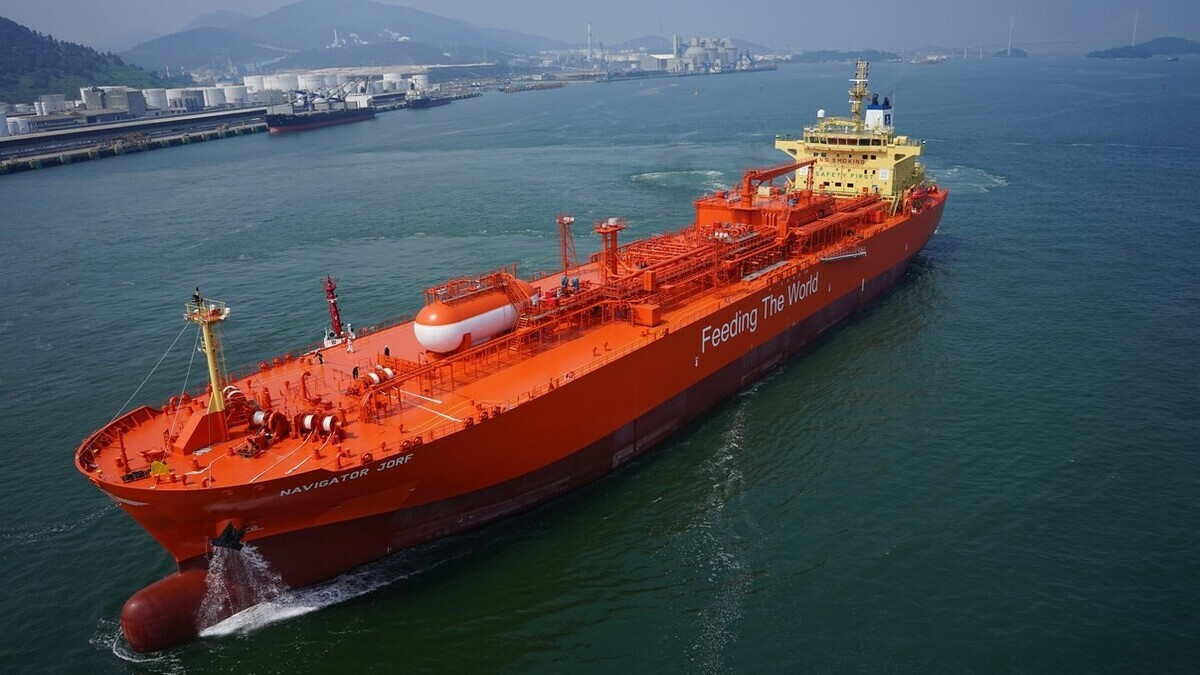 Navigator Gas awarded AiP for ammonia gas carrier design